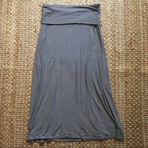 Gap Maternity Striped Fold Over Belly Maxi skirt